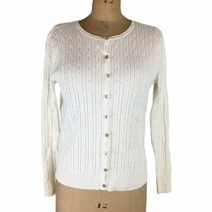 3/$25 Tweeds Cable-Knit Button Front Cardigan